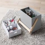 木製収納&メイクボックス ハンドルタイプ 写真