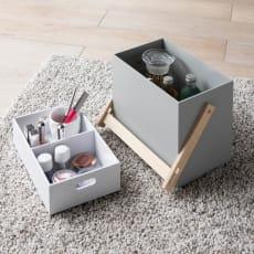 木製収納&メイクボックス ハンドルタイプ