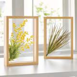 立体グリーンガラスフレーム(2個組) 写真