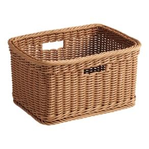 Minmei/ミンメイ バスケットワゴン 洗えるラタン調バスケット単品(1個) 写真