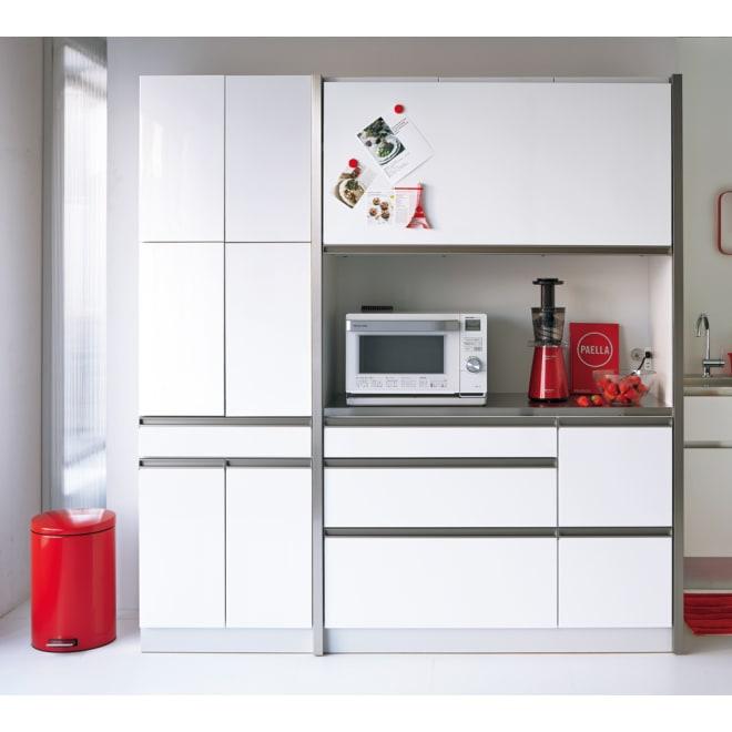 AQUA/アクア カップボード・食器棚 幅60cm ホワイト