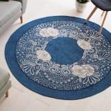 イタリア製 Sahara/サハラ 洗えるゴブラン織ラグ 円形 径約175cm 写真