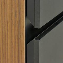 AlusStyle/アルススタイル 隙間収納 ロータイプ(高さ85.5cm) 取っ手は目立たないのでスマートなデザインに。機能性にもこだわり、手をかけやすく設計しました。