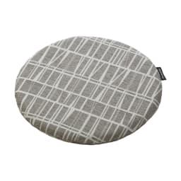 フィンレイソン ジャガード織チェアクッション 丸型・径36cm (ウ)コロナ・グレー