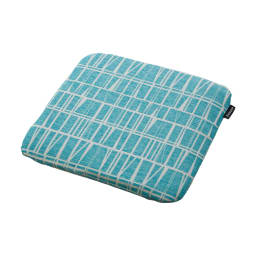 フィンレイソン ジャカード織チェアクッション 四角形・約40×40cm コロナ/ミントブルー