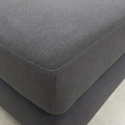 Mukava/ムカヴァ カバーリングローソファ ソファセット ソファの角はほどよく丸みがあります。