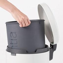 brabantia/ブラバンシア ダストボックス カラー 容量3L 内側のポリバケツは取り外して丸洗いOK。