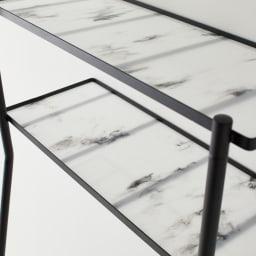 Galliard/ガリアード 立て掛けランドリーラック 棚2段 大理石柄のアクリルプレートがお洒落