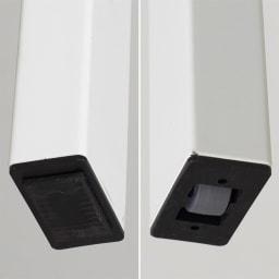 イタリア製伸長式ダイニング5点セット Baron/バロン伸長式テーブル+NewYork/ニューヨークチェア2脚x2[Connubia by Calligaris カリガリス] 伸長側の脚端には隠しキャスター。操作が楽々です。