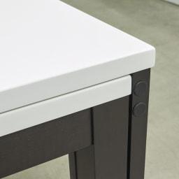 Linna/リンナ 伸長式ダイニングシリーズ 伸長式テーブル 天板伸長部分 アップ