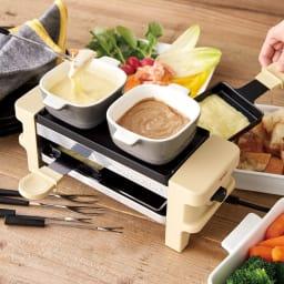 recolte(レコルト)/ ラクレット&フォンデュメーカーメルト コンパクトなサイズ感ながら、手軽に本格的なお料理を楽しめる卓上のホットプレートです