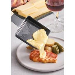 recolte(レコルト)/ ラクレット&フォンデュメーカーメルト 溶けたチーズもつるっと取れます。