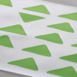 KOLMIO/コルミオ 透明キッチンマット ウ)グリーンは、爽やかで明るいキッチンを演出します。ホワイト系の床板にもぴったり。