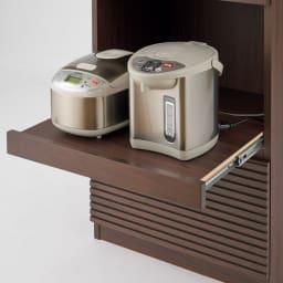 Gulf/ガルフ コンパクトキッチン キッチンカウンター 幅120高さ84.5cm スライドで蒸気を逃がせます。