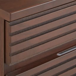 Gulf/ガルフ ダイニングカウンター下収納庫 幅90奥行25cm 【前面の横格子】ウォルナット材を使用した端正なデザイン。