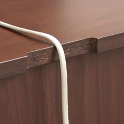 Gulf/ガルフ ダイニングカウンター下収納庫 幅90奥行36.5cm 【欠きこみ付き】天板奥から家電のコードを通せます。