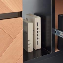 Adour/アドゥール ヘリンボーンシリーズ テレビ台 幅120.5cm モデムやルーターもすっきり収納可能。