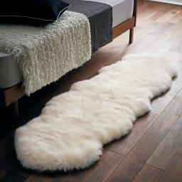日本製 洗える長毛ハイグレードMouton(ムートン) シリーズ ホワイト ※写真は2匹物です。