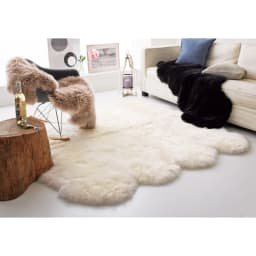 日本製 洗える長毛ハイグレードMouton(ムートン) シリーズ グレイッシュブラウン(2匹物)、ブラック(2匹物)、ホワイト(8匹物)