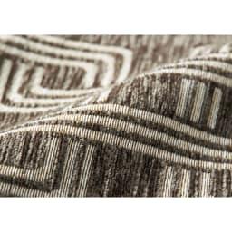 イタリア製マルチクロス Rita/リタ キッチンマット約80×180・240cm(2サイズ) [素材アップ]グレイッシュブラウン シュニールと綿混の糸で織り上げた、心地よい肌触りの生地。