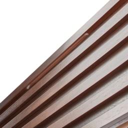 ウォルナット格子調ベッド フレームのみ ショート丈 長さ194cm モダンな格子デザイン