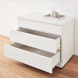 クローゼットチェスト(隠しキャスター付き) 幅90cm・3段 クローゼットチェストは単品でも使用可能。