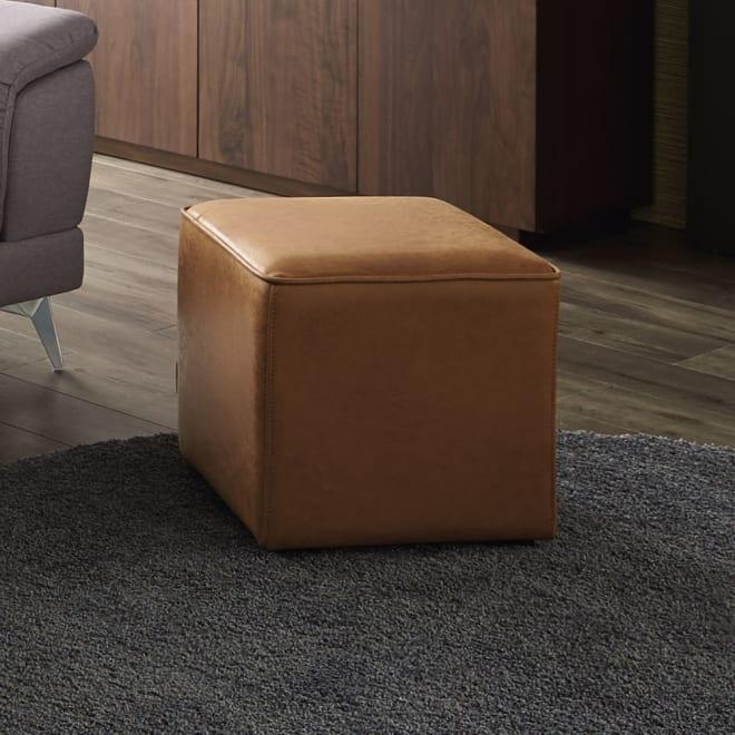 Cube Mode スツール キャメル