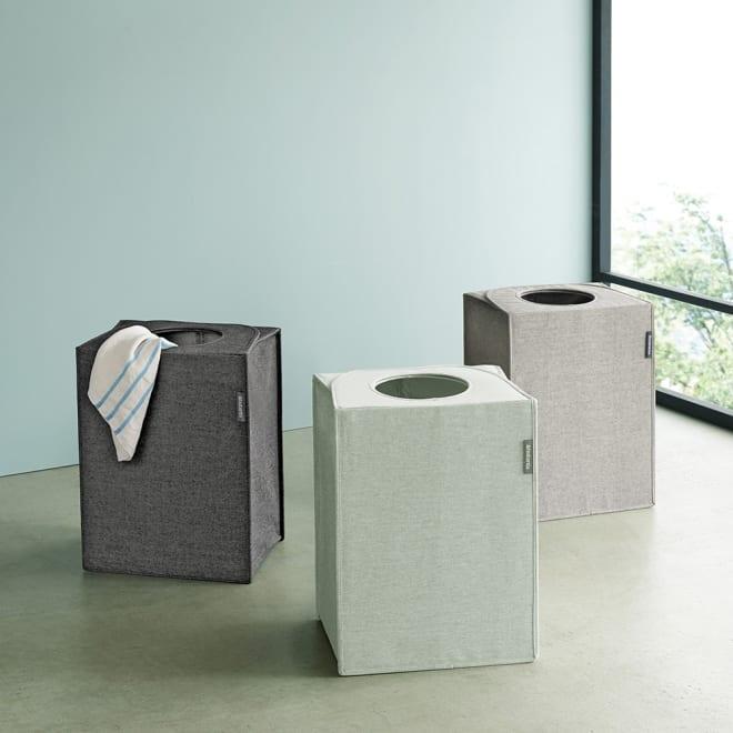 ブラバンシア 折りたたみ式ランドリーバッグ オープン 必要な時だけ広げて使える、省スペースな洗濯物バスケットです.
