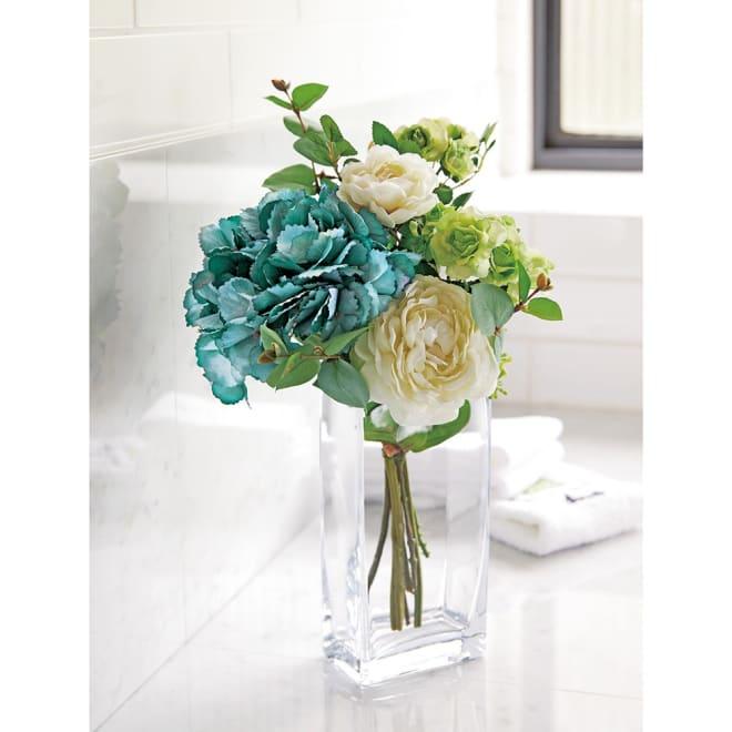 CT触媒加工 アレンジメントフラワー 大 トイレや洗面所のアクセントにも。落ち着いたグリーン系の植物を集めているので、お部屋を選ばず飾ることができます。