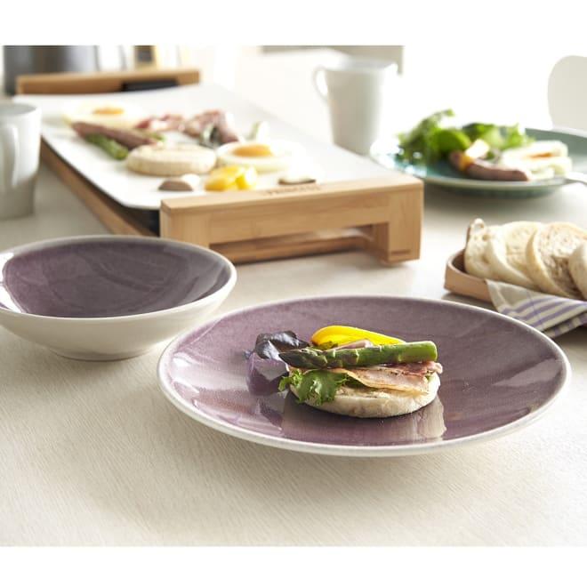 Jars/ジャス ディナープレート TOURRON 美しい色づかいでテーブルを華やかに演出するフランス製食器です。 (イ)パープル ※お届けはディナープレートです。
