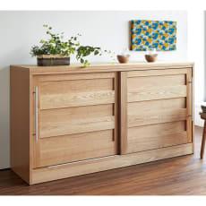 NexII ネックス2 天然木キッチン収納 カウンター 幅160cm