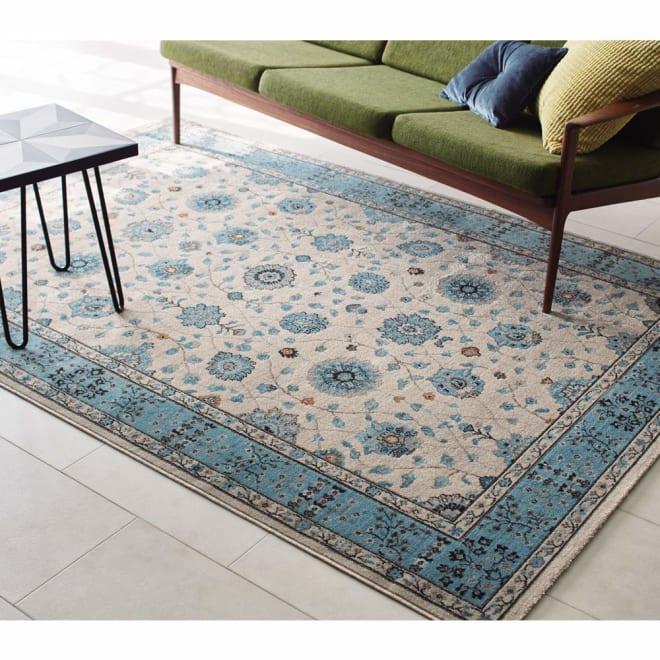 トルコ製 Lafarge/ラファージュ ウィルトン織ラグ アイボリー ※写真は約160×230cmタイプです。