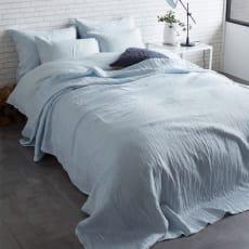 French Linen/フレンチリネン ヘリンボーン織カバーリング マルチカバー