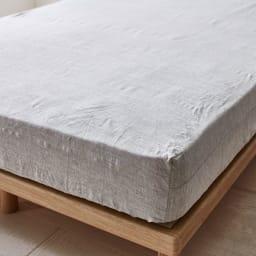 French Linen/フレンチリネン カバーリング ベッドシーツ メランジ (ア)グレー