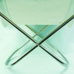 50周年限定 Nychair X ニーチェア エックス オットマン [Takeshi Nii/デザイン:新居猛] 脚部は硬質な輝きが美しいステンレス製。