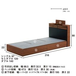 AlusStyle/アルススタイル ベッドシリーズ ベッドフレームのみ