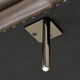 Maukasta/マウカスタ 総革張りレザーソファ 3人掛け 脚部はお客様にて取付(底面のファスナー内に部品が入っています)