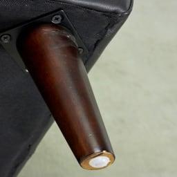 Luola/ルオラ 総革張りレザーソファ トリプルソファ(3人掛け) 木製レッグには滑り止めつき