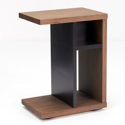 Piezza  移動自在キャスター付きサイドテーブル 上収納部サイズ:幅16×奥行12.5×高さ13.5cm