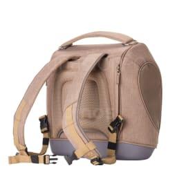 ミュナペットキャリーバッグ 背中部分にもファスナーポケットが付いているため、保冷剤や、診察券などを入れることができます。