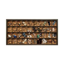ディスプレイジュエリーボックス 幅40 cm (1段目・2段目) 指輪やピアス、イヤリングなどの小さなジュエリーの収納に。