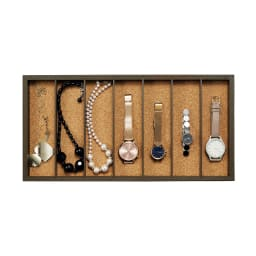 ディスプレイジュエリーボックス 幅40 cm (3段目・4段目)ネックレスや腕時計など、長いものの収納に。
