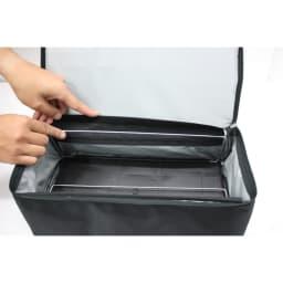 ROLSER/ロルサー ショッピングカート 4輪カート+保冷・保温付きバッグ フレームにワイヤーが入っているので、卵などがつぶれにくい構造。