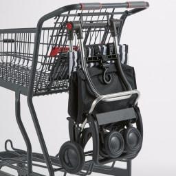 ROLSER/ロルサー ショッピングカート 4輪カート+保冷・保温付きバッグ たたんでスーパーのカートに掛けることも。