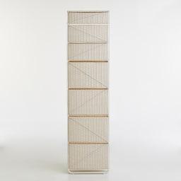 Nelia/ネリア ラタン調すき間ランドリーチェスト ハイ高さ180cm 幅25cm