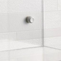 Klar/クラール アクリル製パウダールーム収納 幅21cm 壁に取り付ける金具は目立ちづらいのでお部屋の景観を損ねません。
