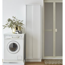 Clair/クレール 引き戸サニタリー収納庫 幅90cm (イ)ホワイト ※写真は幅50cmタイプです。