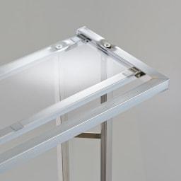 アクリル棚 ハンガーラック 幅71cm 圧迫感を軽減し、おしゃれな玄関インテリアを引き立てる収納棚