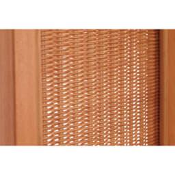 Verde/ベルデ 折り畳みパーテーション 5連 (ア)ナチュラル ラタンの編地も柔らかいナチュラル系のブラウンカラー