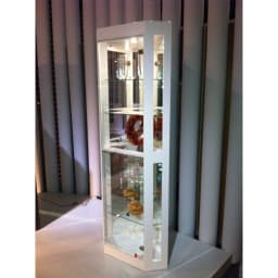 LEDライト付き キュリオコレクションボード コーナータイプ ホワイト